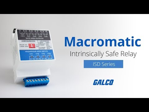 Macromatic ISD Series Intrinsically Safe Relays