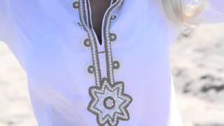 Barbara Gerwit Embellished Linen Tunic Style 520Q50