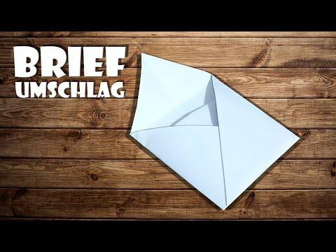 ✉️ Briefumschlag falten - Geschenkkartenumschlag falten (envelope)