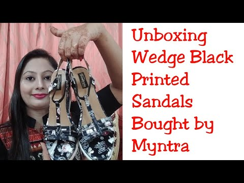 Myntra Wedge Heels Unboxing || Shoetopia Brand Wedge Heels Review ||