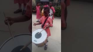 7 years old Nigerian kid playing the national anthem