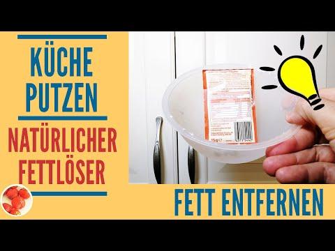 Genialer Trick: Küche putzen mit natürlichem Fettlöser | Fett von Küchenschränken leicht entfernen