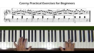 Czerny Practical Exercises for Beginners Op. 599, No. 63 Piano Tutorial