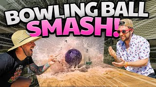 Bowling Ball DESTRUCTION | TV, Wine Bottles, Egg SMASH!