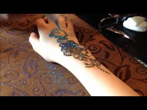 glitter mehndi design by blurberry buzz body art