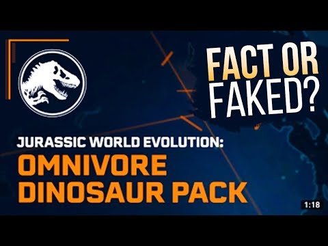 NEW DLC REVEALED? Omnivore Dinosaur Pack - Fact Or Faked? | Jurassic World: Evolution DLC