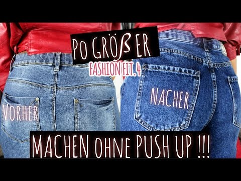 Po GRÖßER MACHEN OHNE PUSH UP!!! | IAMLIZACOLE #FASHION FIT 4