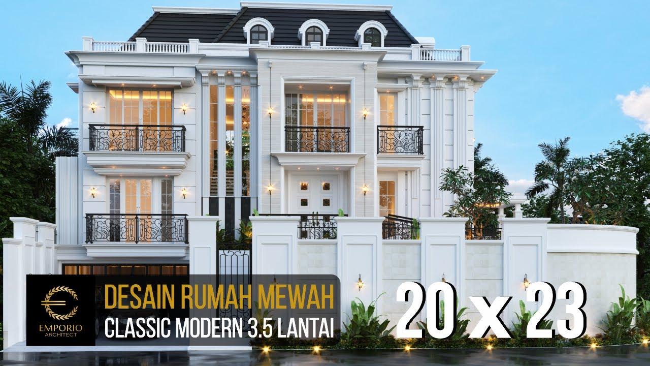 Video 3D Desain Rumah Classic Modern 3.5 Lantai Ibu L di Banjarmasin, Kalimantan Selatan