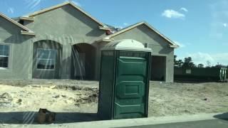 КАК СТРОЯТ ДОМА В США новый жилой район частных домов 05.17 Орландо Флорида школа