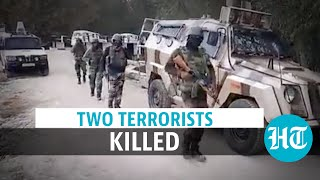 Two terrorists gunned down in encounter in Jammu and Kashmir Kulgam - Download this Video in MP3, M4A, WEBM, MP4, 3GP