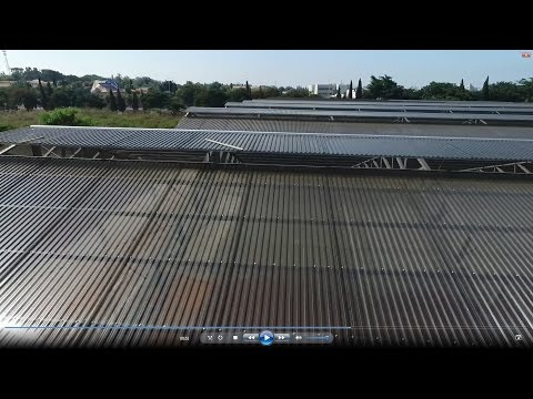 Installation of SUNTUF Plus corrugated polycarbonate commercial greenhouse