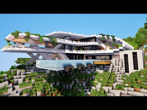 Map Minecraft Maison. Free Modern House Minecraft Pe Survival Design ...