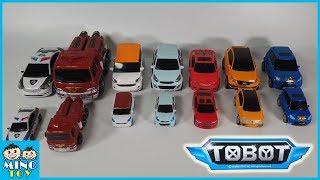 Tobot Quatran,Tritan Giant and Mini 14 vehicles combine transform to 4 robots each
