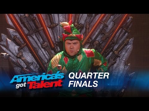 Piff The Magic Dragon: Howie Mandel's Dangerous Game With Magician - America's Got Talent 2015- MTW