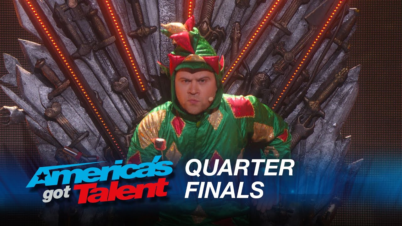 Piff The Magic Dragon: Howie Mandel's Dangerous Game With Magician – America's Got Talent 2015 #AGT
