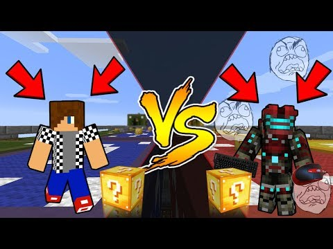EPICKÝ ZÁVOD, ROZMLÁTIL VENDALI KLÁVESNICI A MYŠ ?! - Minecraft Lucky Block Race w/ Vendali