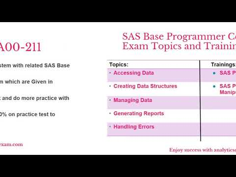 How to Prepare for A00 211 Exam on SAS Certified Base ... - YouTube