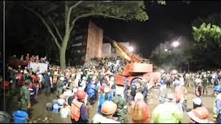 Watch in 360: Rescuers search for survivors in collapsed apartment building in Mexico City