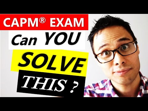 SOLVE THESE CAPM EXAM QUESTIONS ON WORK ... - YouTube