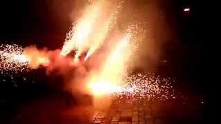 preview picture of video 'Encesa del Drac de Reus (Diada de St Jordi 2014)'