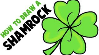 How to Draw a Shamrock or Four Leaf Clover for Saint Patrick's Day