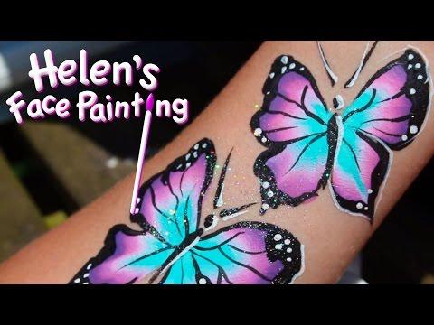 Face Painting Tutorial - Butterfly Demonstration using Split Cake