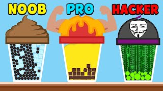 NOOB Vs PRO Vs HACKER - Bubble Tea