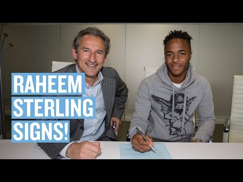 Raheem Sterling Signs for Man City