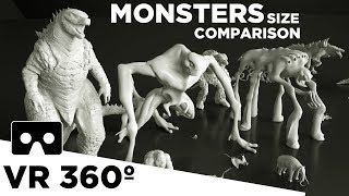 Monsters Size Comparison VR 360 (Movies) 👹