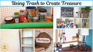USING TRASH TO CREATE TREASURE | CRAFT ROOM ORGANIZATION IDEAS | DIY | COCONUT | PEGBOARD