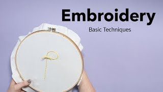 Basic Embroidery Techniques | Beginners Embroidery Tutorial