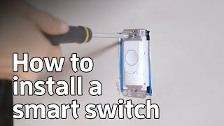 How to install a smart switch