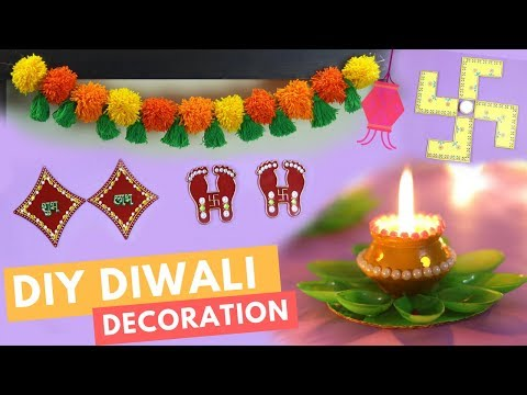 DIY: 5 Diwali Room Decoration Ideas 2017 | #DIYWithDhwani