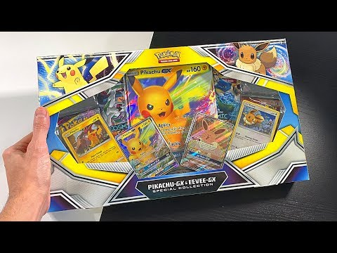*NEW POKEMON CARDS PIKACHU & EEVEE BOX!* Opening SPECIAL COLLECTION Box With COSMIC ECLIPSE!