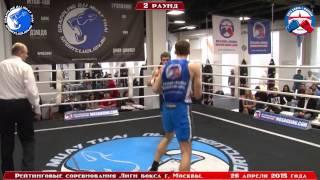 """Рейтинг - """"Турнир сильнейших"""" Лиги бокса г. Москвы - 26 апреля 2015 г. до 75 кг."""
