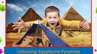 Vlog. Unboxing: Egyptische Pyramide Playmobil 5386. Reviews auf Kinderkanal DaRom.