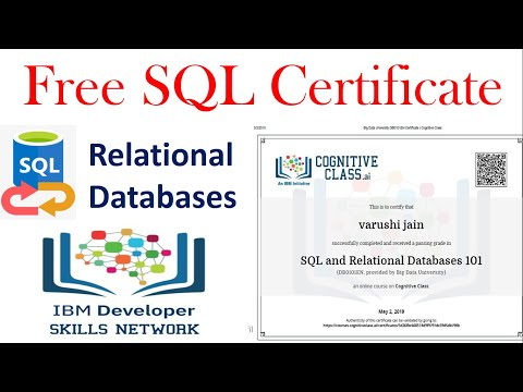 Free SQL Certification Course | How to get free MySQL free ...