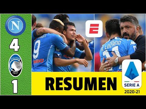 Napoli 4-1 Atalanta. ¡DOBLETE de Hirving Chucky Lozano! Gattuso, feliz con el mexicano | Serie A
