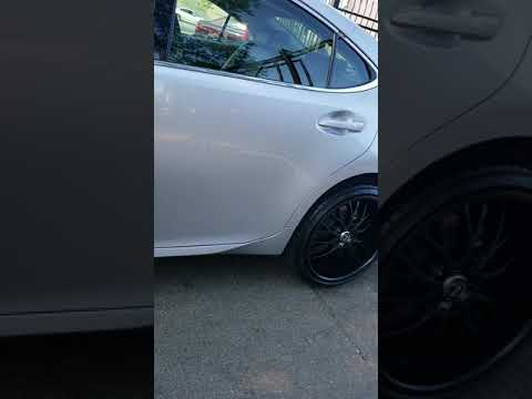 2015 Lexus ES350 on all black Staggered 20 inch Helo HE890 wheels!