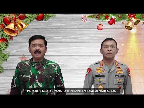 UCAPAN NATAL DAN TAHUN BARU PANGLIMA TNI DAN KAPOLRI 2020