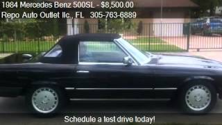 1984 Mercedes Benz 500SL Convertable - for sale in , FL 3331