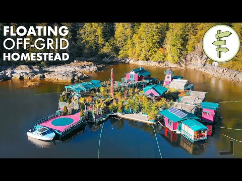 , title : '27 YEARS Living Off-Grid on a Self-Built Island Homestead