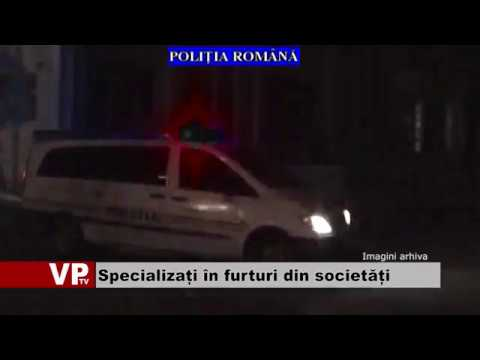 Specializați în furturi din societăți