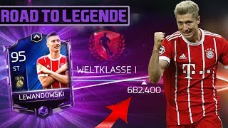 TOTY Lewandowski ROAD TO LEGENDE | Fifa Mobile 18