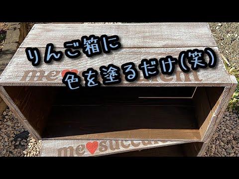 , title : '【DIY】リンゴ箱を有効活用(塗ってるだけです…)【ガーデニング】