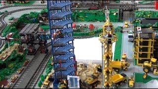 Huge Lego City with Trains ♦ Erlebniswelt Modellbau Kassel 2015 Modellbaumesse
