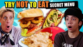 Try Not To Eat Challenge - Crazy Fast Food Secret Menu Combos
