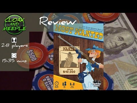 Cloak and Meeple: Review   Most Wanted (North Star Games)