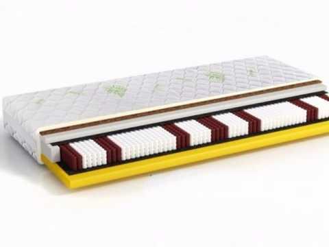 7-Zonen Taschenfederkern Matratze Komfort Kokos Latex (70 x 200 cm)