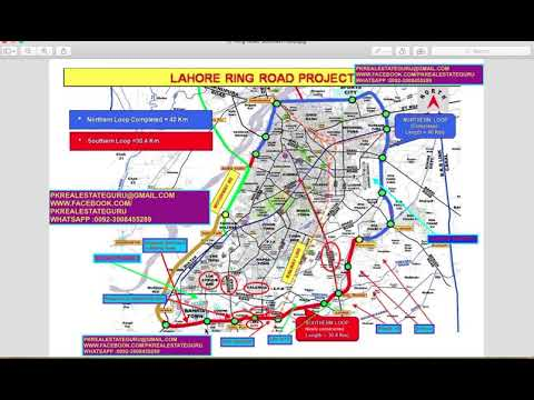 INFORMATION - RING ROAD SOUTHERN LOOP MAP LAHORE